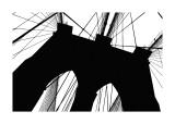 Brooklyn Bridge Silhouette Giclée-tryk af Erin Clark