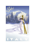 Ski Italy Giclee Print by Kem Mcnair