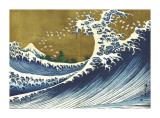 Great Wave (from 100 views of Mt. Fuji) Lámina giclée por Katsushika Hokusai
