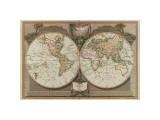 New Map of the World Giclee Print
