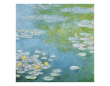 Nympheas at Giverny Giclée-Druck von Claude Monet