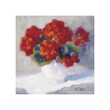 Red Geraniums Giclee Print by B. Oliver