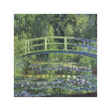 Claude Monet - Water Lily Pond, c.1899 (blue) - Giclee Baskı
