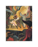 Russian Ballet Giclée-tryk af Auguste Macke