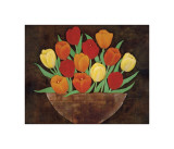 Tasteful Tulips Giclee Print by R. Rafferty
