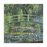 Water Lily Pond, c.1899 (blue) Giclée-tryk af Claude Monet