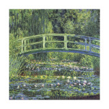 Water Lily Pond, c.1899 (blue) Giclee Print by Claude Monet