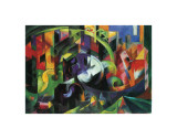 Abstract with Cattle Giclée-tryk af Franz Marc