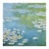 Nympheas at Giverny Giclée-tryk af Claude Monet