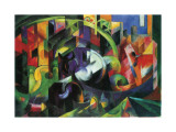 Abstract with Cattle Giclee Print by Franz Marc