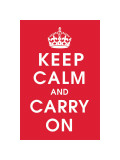 Keep Calm (Red) Giclee Print