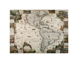 North and South America Giclee Print