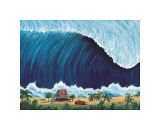 Shorebreak Giclee Print by Rick Romano