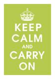 Keep Calm (kiwi) Digitálně vytištěná reprodukce