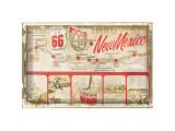 Scenic US 66 thru New Mexico Giclee Print