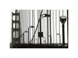 Golden Gate Bridge in Silhouette Giclée-tryk af Christian Peacock