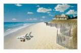 Beach House View Giclee Print by Zhen-Huan Lu