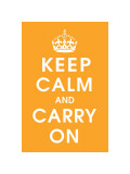 Keep Calm (orange) Lámina giclée