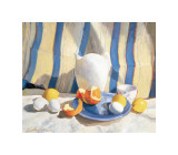 Pitcher with Eggs and Oranges Giclee Print by Saladino