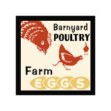 Barnyard Poultry-Farm Eggs Giclee Print