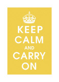 Keep Calm (mustard) Giclee Print