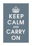 Keep Calm (charcoal) Digitálně vytištěná reprodukce