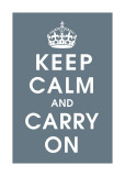Keep Calm (charcoal) Giclee Print