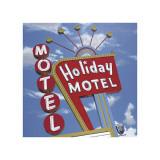 Holiday Motel Giclée-tryk af Anthony Ross