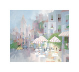 Place du Tertre Giclee Print by Albert Swayhoover