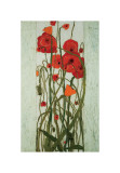 Poppy Garden Giclee Print by Karen Tusinski