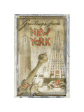 Greetings from New York Giclee Print