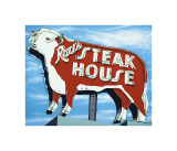 Rod's Steakhouse Giclee Print by Anthony Ross