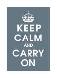 Keep Calm (charcoal) Giclee Print