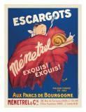 Escargots Menetrel Digitálně vytištěná reprodukce