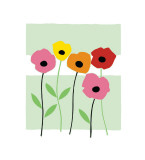 Playful Poppies Giclee Print by Muriel Verger