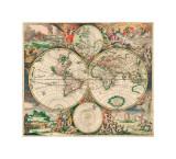 World Map, c.1689 Giclee Print