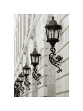 Lamps on Side of Building Giclee Print by Christian Peacock