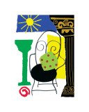 Capri Chair Giclee Print by Muriel Verger