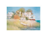 Cottages by the Sea Giclee Print by Albert Swayhoover