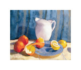 Pitcher with Tangelos and Lemons Giclee Print by  Saladino