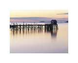 Old Wharf at Dawn Giclee Print by Rezendes 