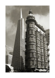 San Francisco Iconic Buildings Giclée-tryk af Christian Peacock