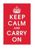 Keep Calm (rojo) Lámina giclée