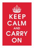 Keep Calm (červená) Digitálně vytištěná reprodukce