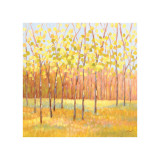 Yellow and Green Trees (center) Giclee Print by Libby Smart