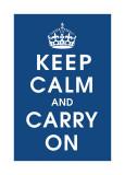 Keep Calm (navy) Digitálně vytištěná reprodukce