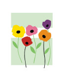 Perky Poppies Giclee Print by Muriel Verger