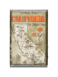 Greetings from California Giclee Print
