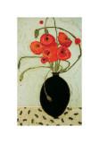 Swirling Poppies Giclee Print by Karen Tusinski