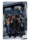 X-Factor No.200 Group: Richards, Franklin, Richards, Valeria, Madrox, Strong Guy and Shatterstar Posters by Ribic Esad